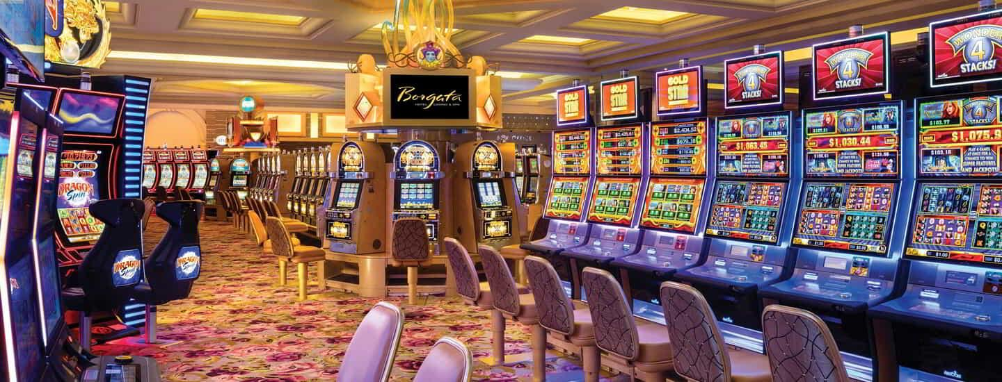 Borgata Casino Slot Machine Row