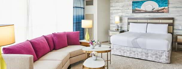 Fiore Suite with lounge area shot at Borgata Hotel Casino & Spa.