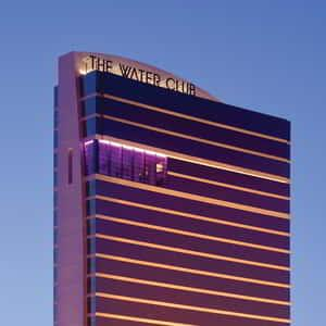 Exterior photo of The Water Club hotel tower.