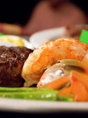 Steakhouse offers a steak and lobster combo.