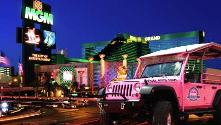 Tour the neon lights of the Las Vegas Strip with Pink Jeep.
