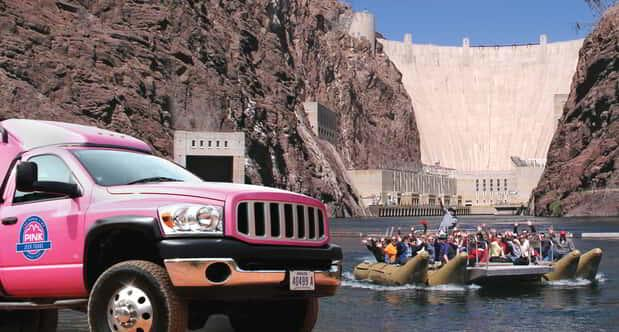 On Pink Jeep's Hoover Dam tour you will discover both the dam and the new bridge.
