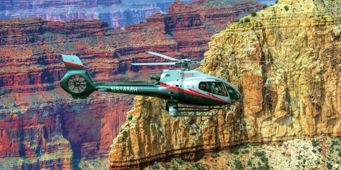 Maverick Helicopter touring the Grand Canyon.