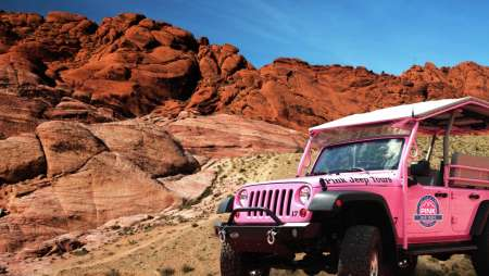 Gear up for an adventure in Red Rock Canyon with this Pink Jeep tour.