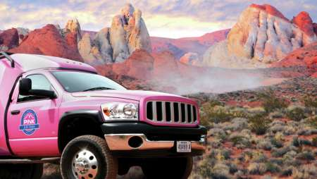 The best way to experience Valley of Fire is with Pink Jeep Adventure Tours.