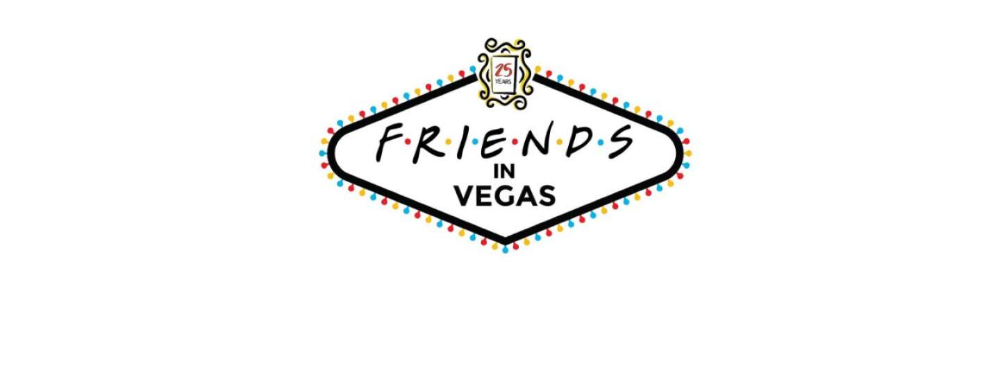 Logo for Friends in Vegas 25 years at NYNY