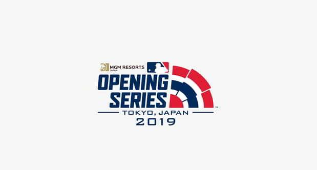 Official Partners MLB Opening Series Japan logo.