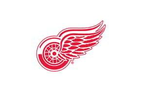 Official Gaming Partner NHL Club Sponsorship Red Wings Logo.