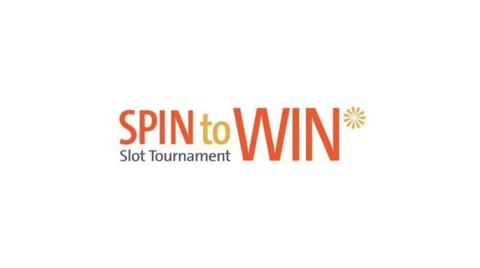 Spin to Win Slot Tournament Logo.