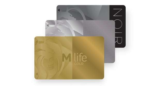 M life Cascading Cards with Gold Platinum and Noir.