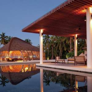This image is of the pool at Park Hyatt Maldives Hadahaa.