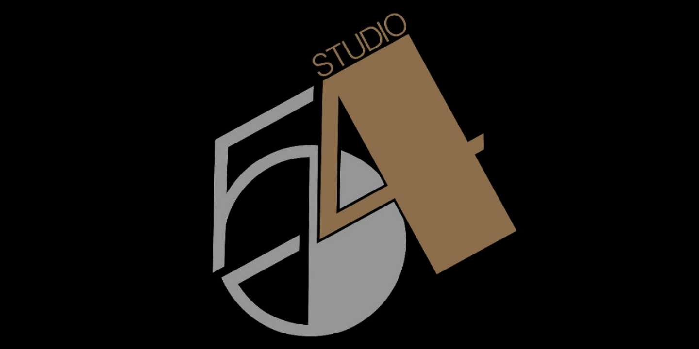 Black and gold brand logo for Studio 54