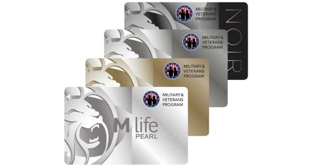 This image is of the M life Rewards Military Program Cards.