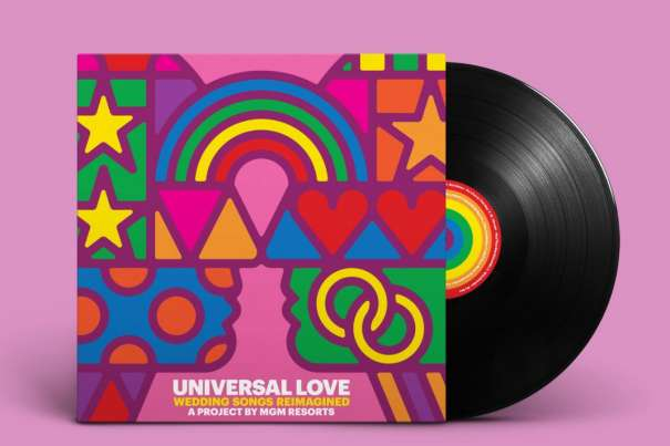 Universal Love Album with Record showing