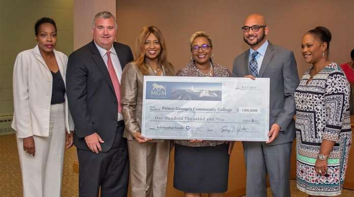 MGM National Harbor donates to Prince George's Community College.