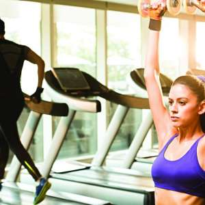 Millennial women Use free weights, ellipticals, treadmills, and more to keep up your workout routine during their stay.