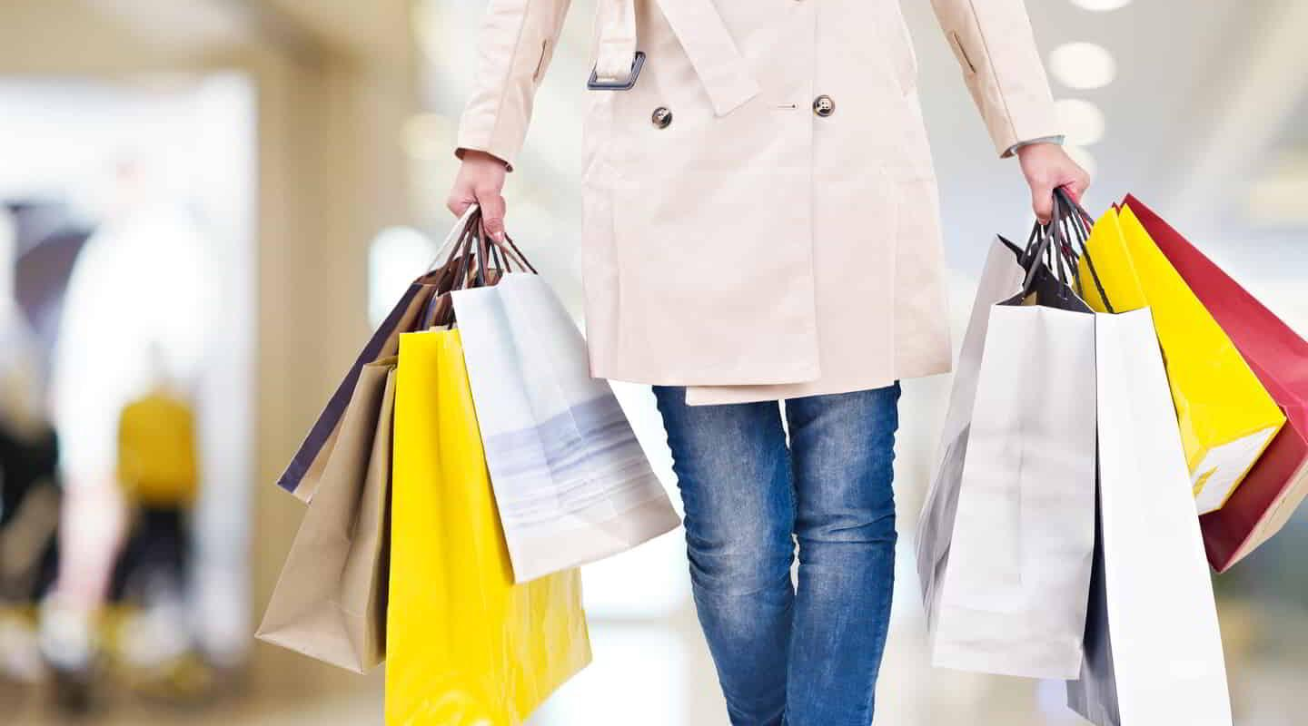 Woman retail shopping with Bags