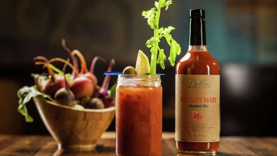 At Della's Kitchen, we offer our own curated organic Bloody Mary mix available for purchase.