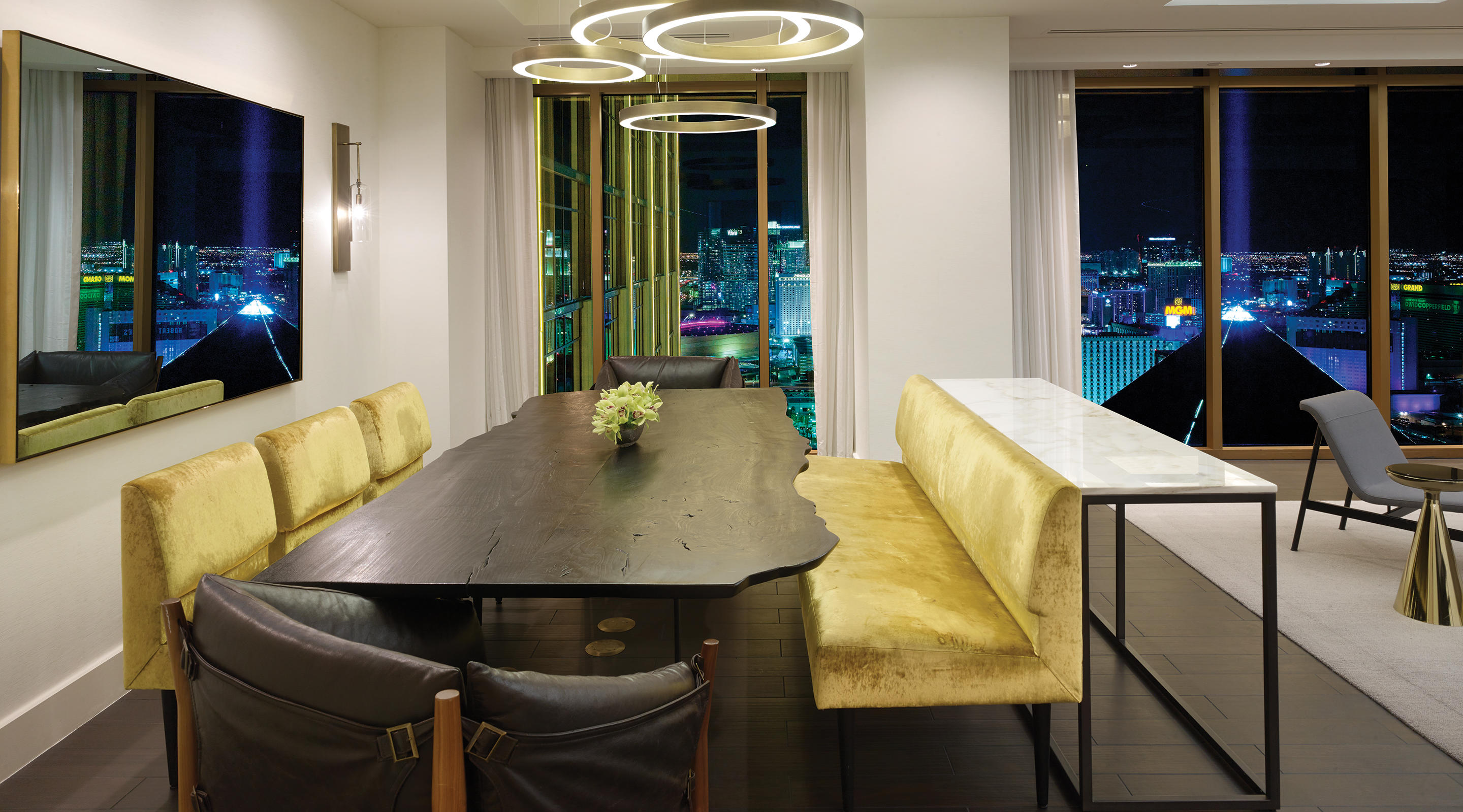 Delano Las Vegas Penthouse City View Dining Room