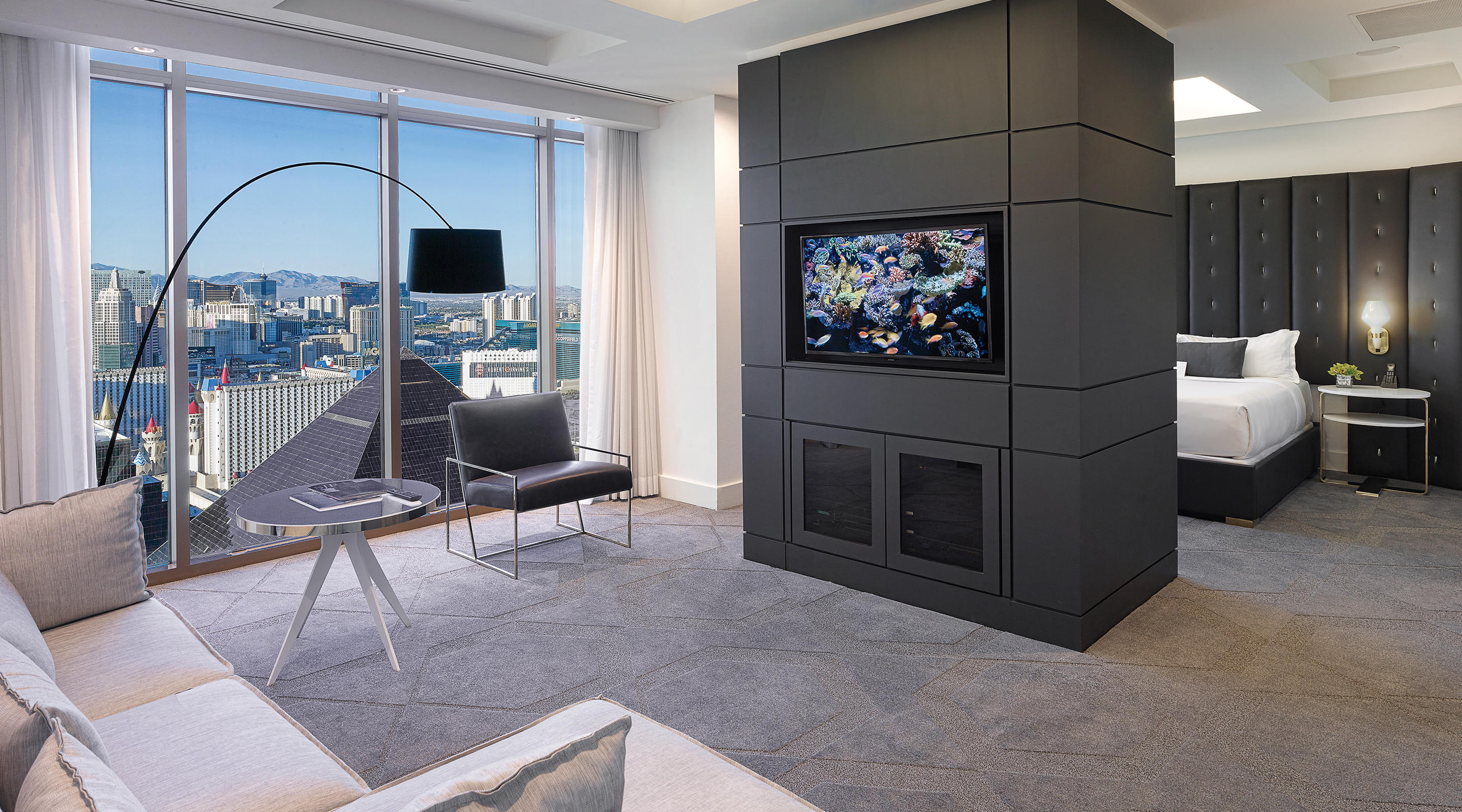 Delano Las Vegas Penthouse City View Living Room with View