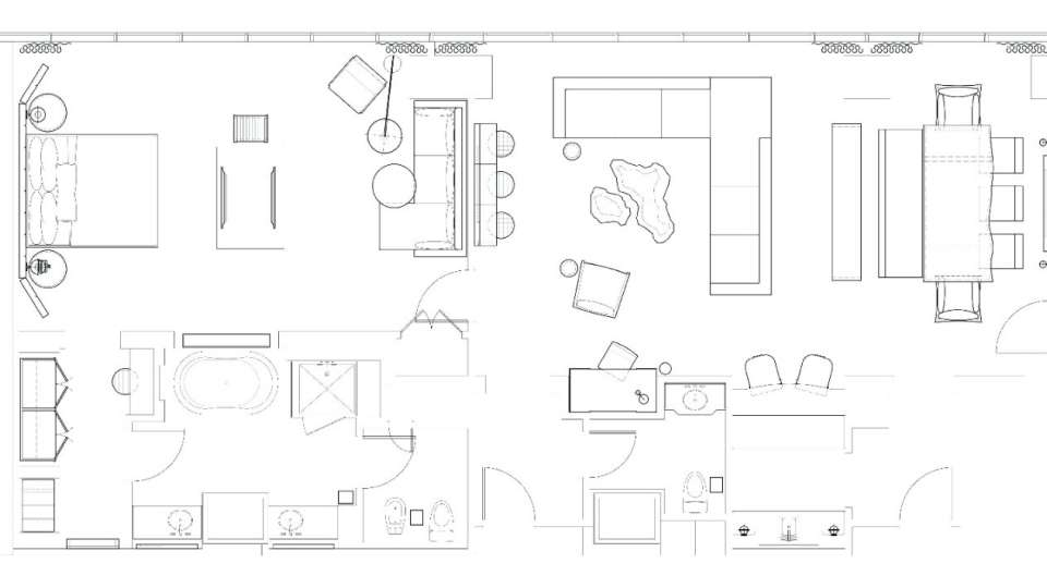 Delano Las Vegas Floor Plan Penthouse Superior Suite