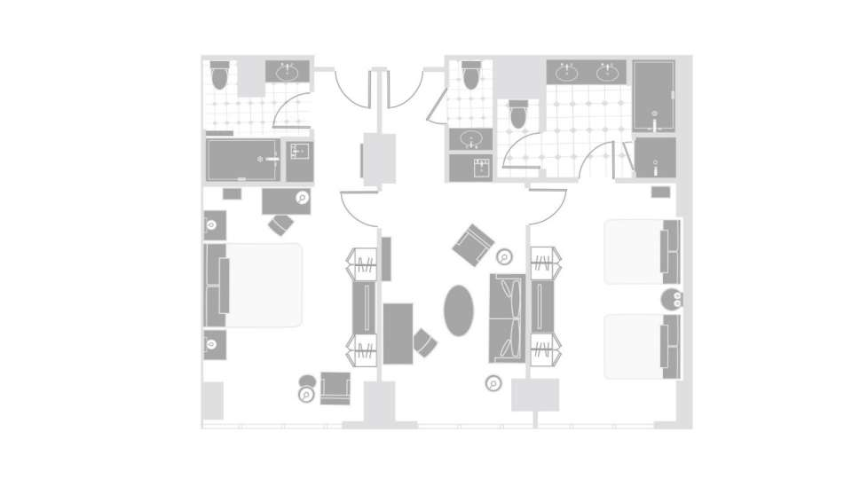 Delano Las Vegas Two Bedroom Suite Floor Plan
