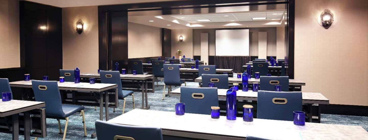 Delano Las Vegas Meetings classroom set up.