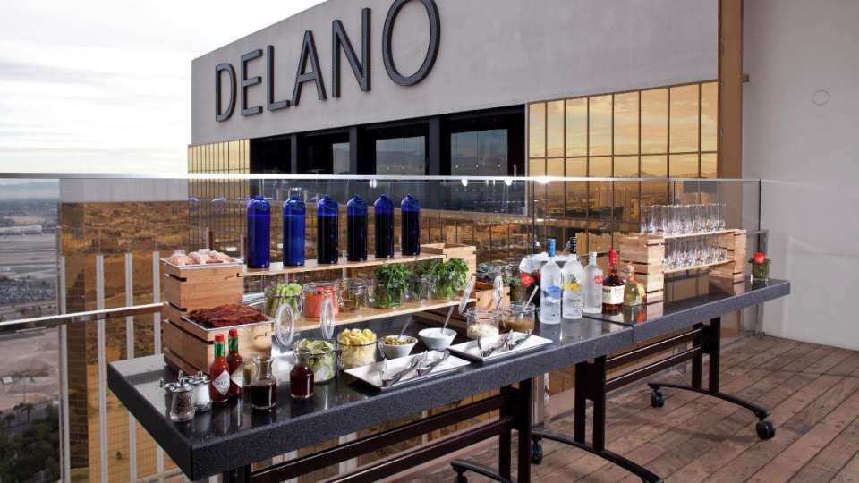 Delano offers unique locations, such as miX atop Delano Las Vegas.