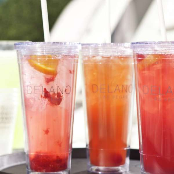 Colorful drinks at Delano Beach Club
