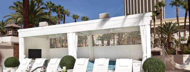 Cabana and lounge chairs at Delano Beach Club