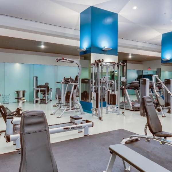 The fitness center and gym at Delano Las Vegas.