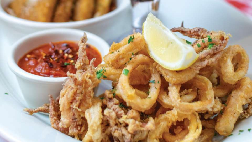 CALAMARI – Served with our house-made spicy marinara sauce.