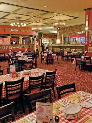 This is an image of the table overview of Buca di Beppo.