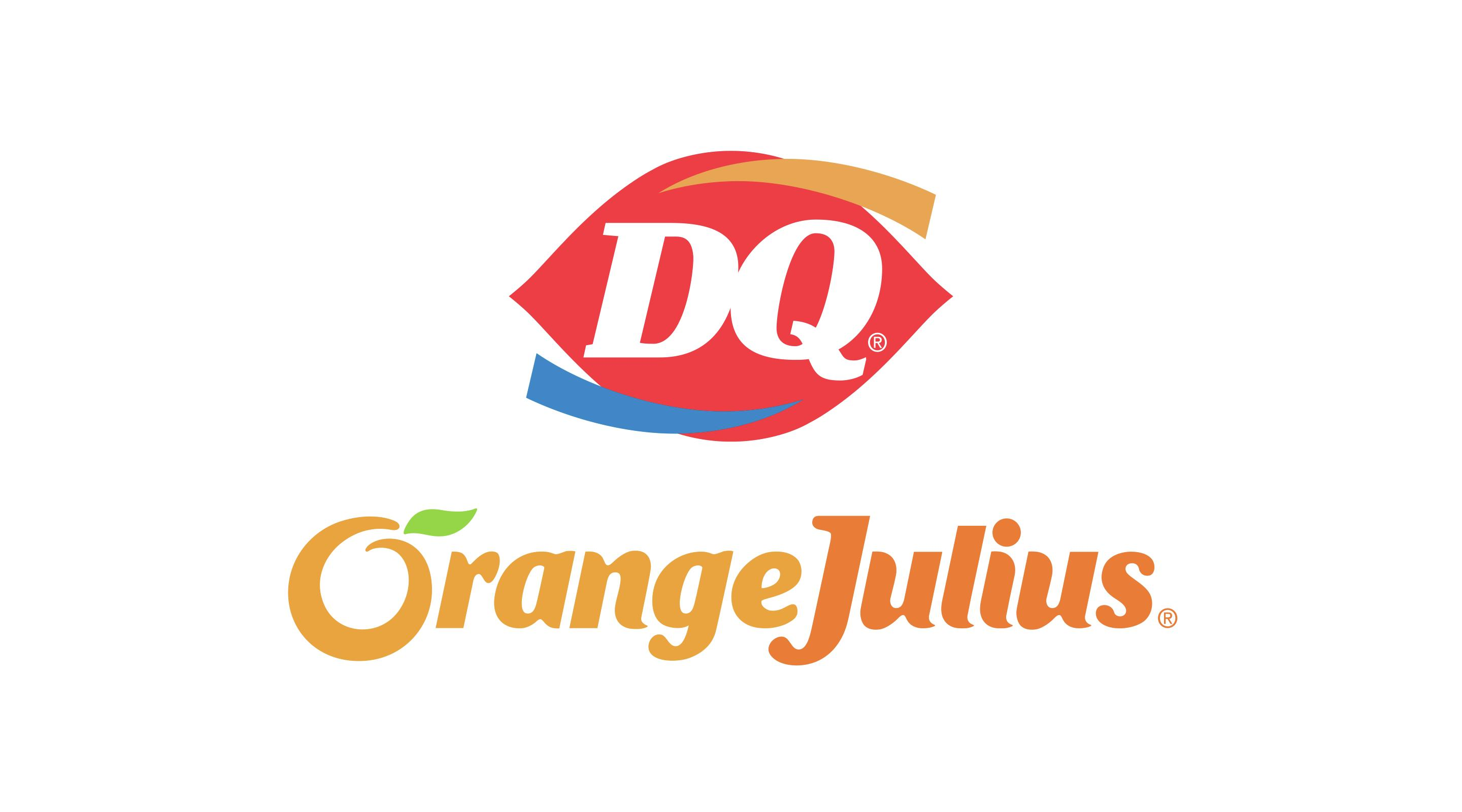 This is a large image of the Dairy Queen and Orange Julius logos.
