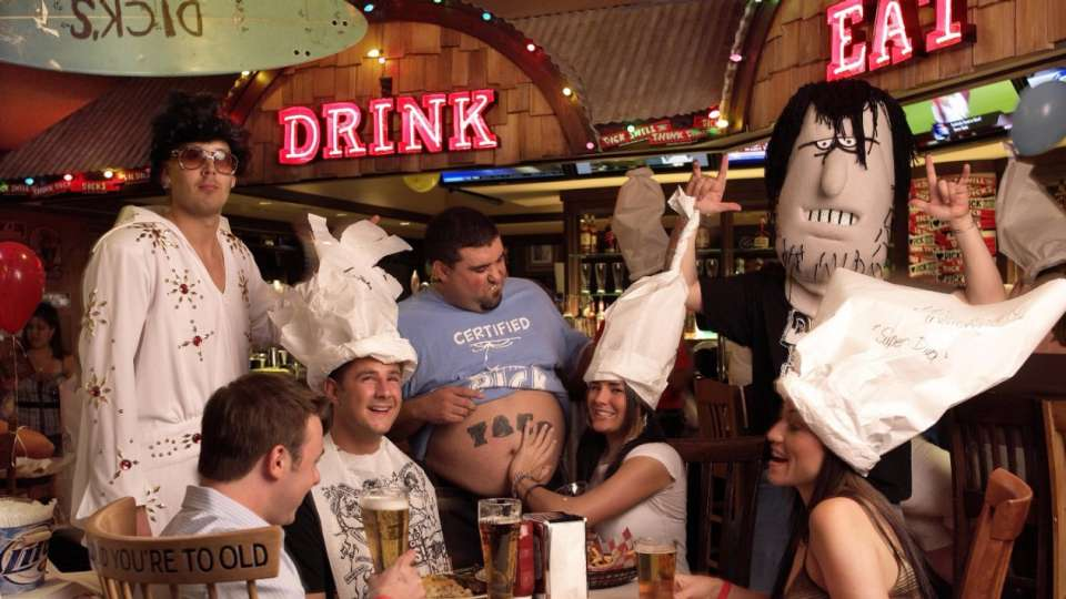Group with Taco at Dick's Last Resort.