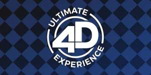Logo for the Ultimate 4D Experience at Excalibur.