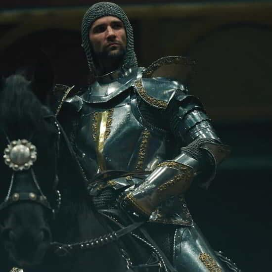 Tournament of Kings knight on horse an armor.