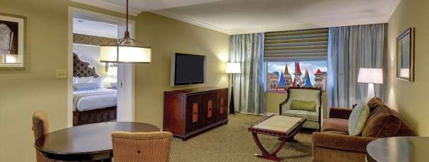 This is an alternate Excalibur view of the Resort Luxury Suite Living Room.
