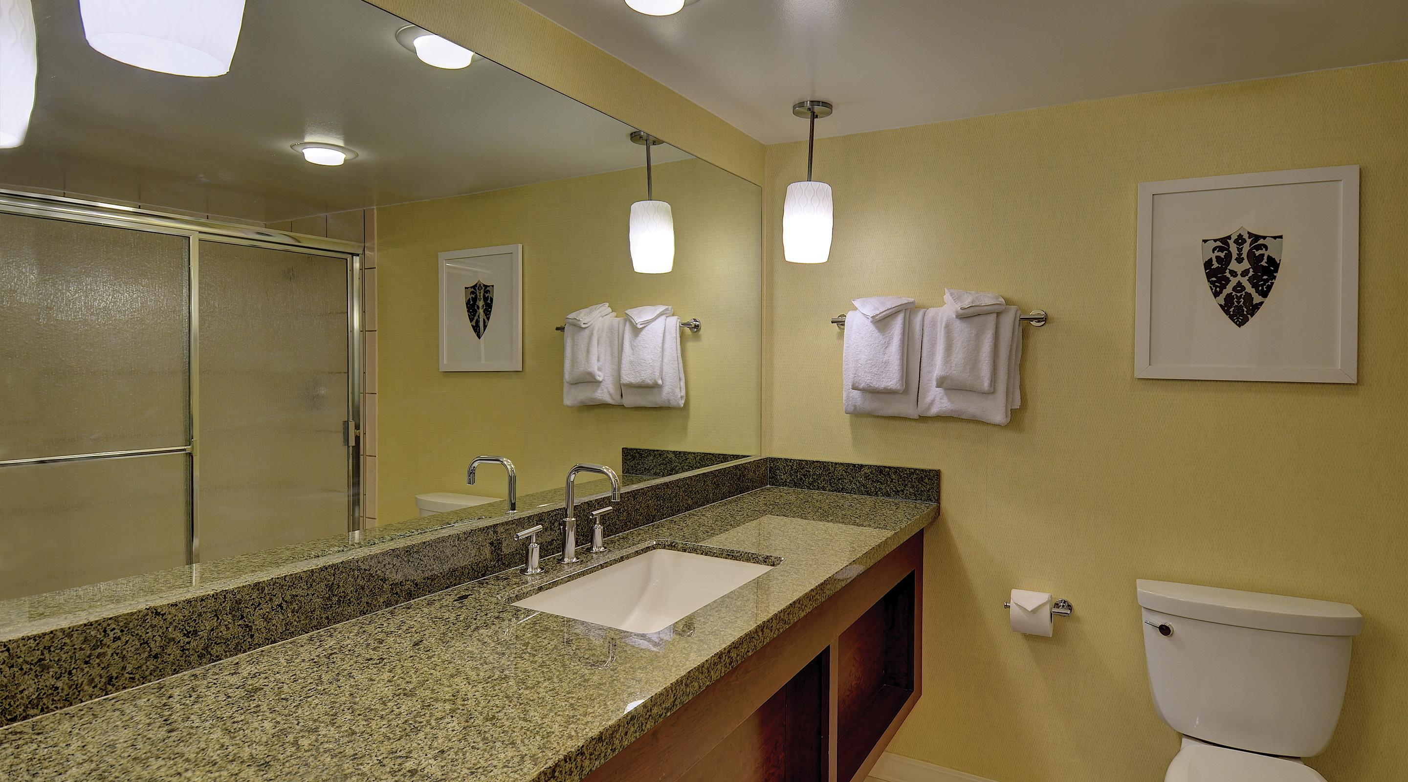 This is an image of the bathroom in the Resort Tower rooms.