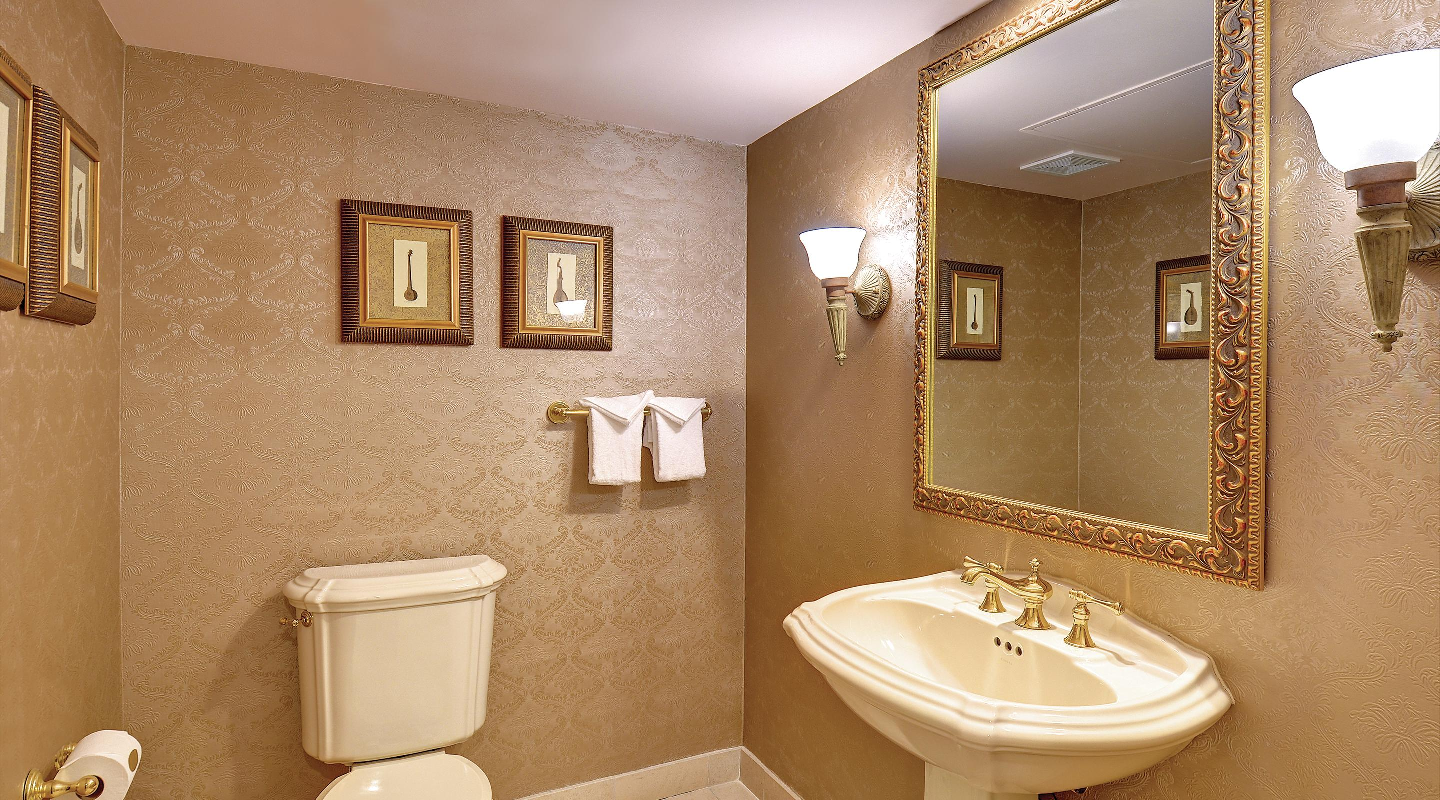This is an image of the Royal Luxury Suite Secondary Bathroom.