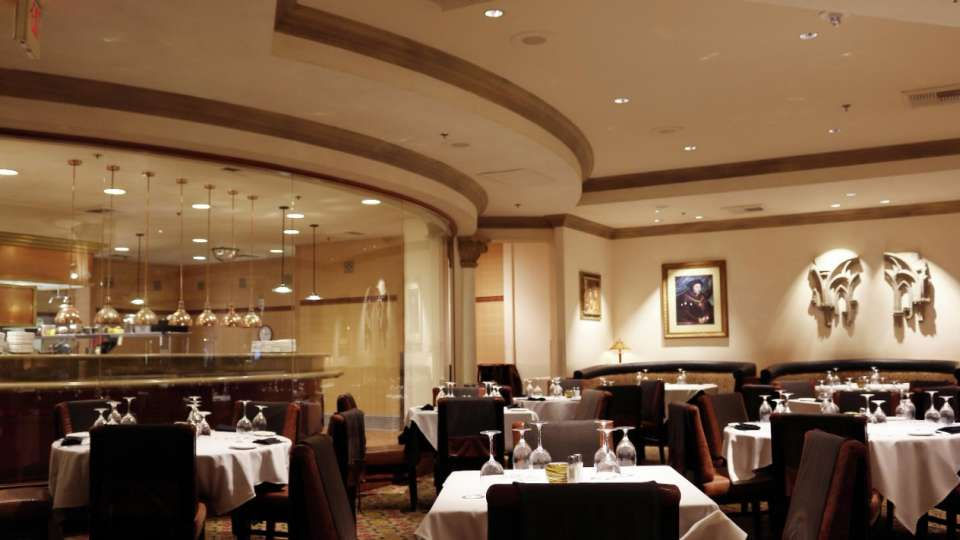 Full view of the inside of Camelot Steakhouse.