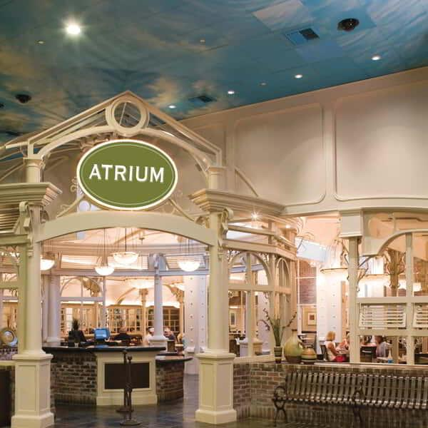 Stop in anytime of the day and enjoy all the variety the Atrium menus have to offer.