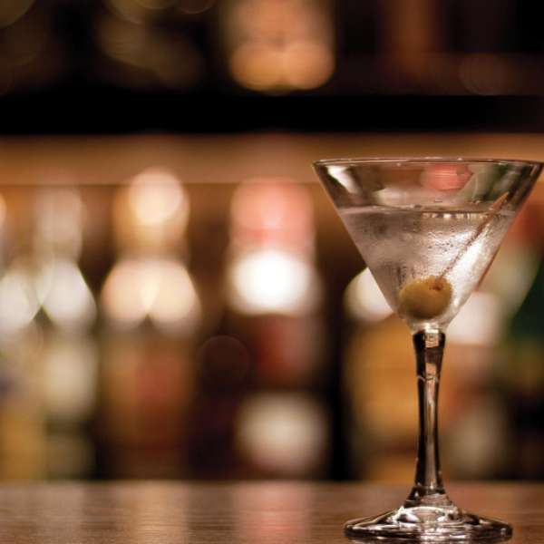 Centra image of the martini.