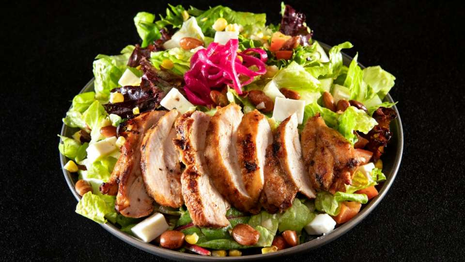 Diablos Cantina Vixen salad with chicken.