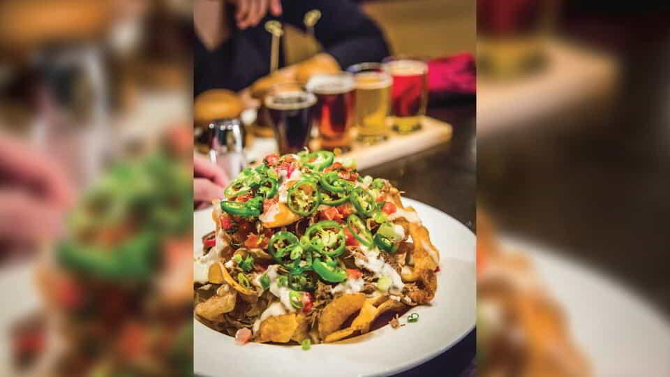Photo of the nacho plate offered at Public House.