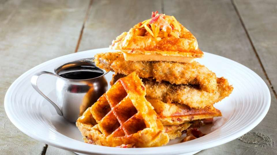 Chicken and Waffle.