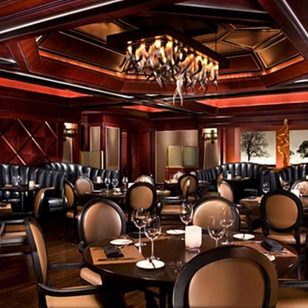 The main dining room inside Tender Steak and Seafood.