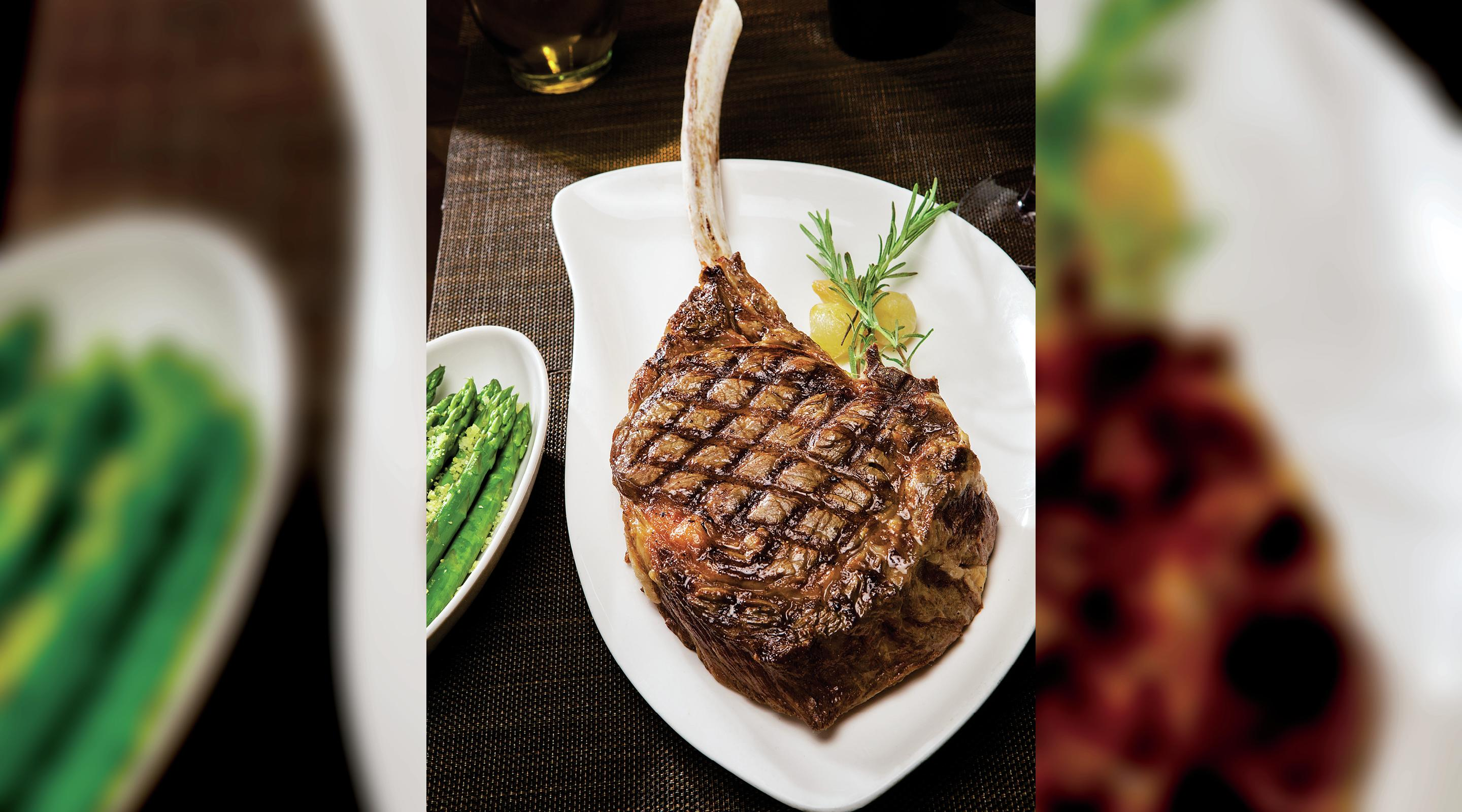 Tomahawk Ribeye for two at Tender Steak and Seafood.