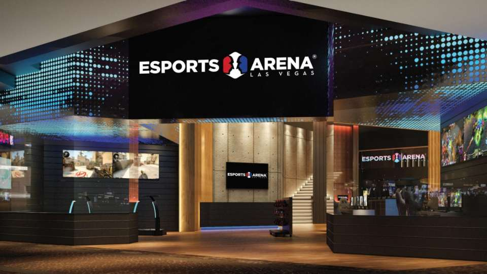 A rendering image for the new Esports Arena entrance.