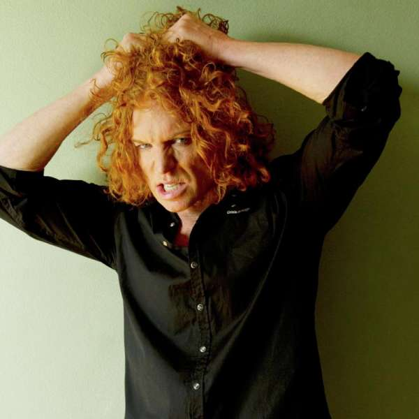 Carrot Top describes himself as a culmination of George Carlin, Steven Wright and Gallagher.